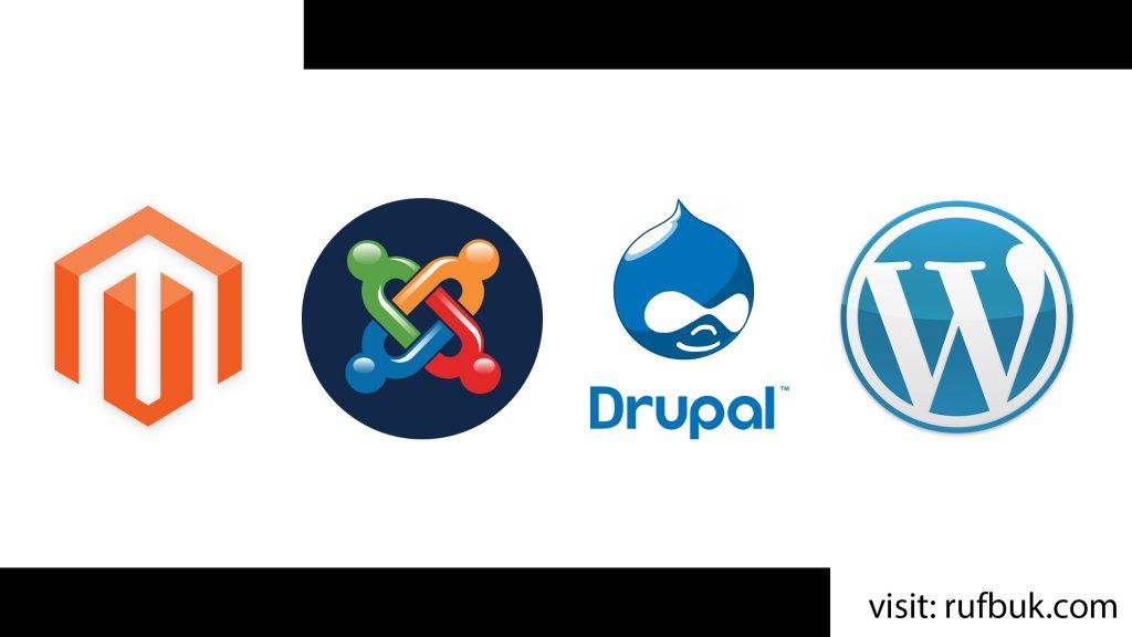 Wordpress vs Joomla vs Drupal vs Magento