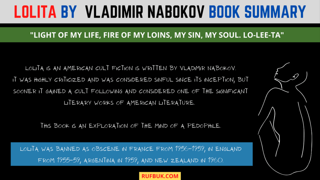 Book Summary Lolita by Vladimir Nabokov